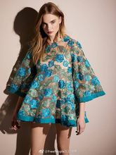 Women Alic 3-D Floral Embroidered Mini Dress