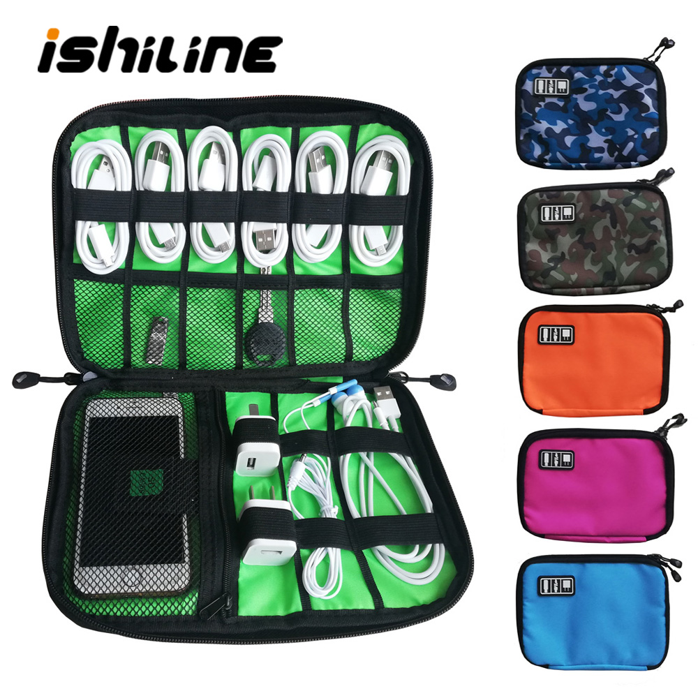 ishiline Gadget Organizer USB Cable Storage Bag Travel