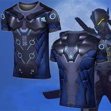 Owt Watch Over Winston Reaper Soldier 76 Shimada Genji Costume T Shirt Cosplay T-shirt Spandex Brand Clothing