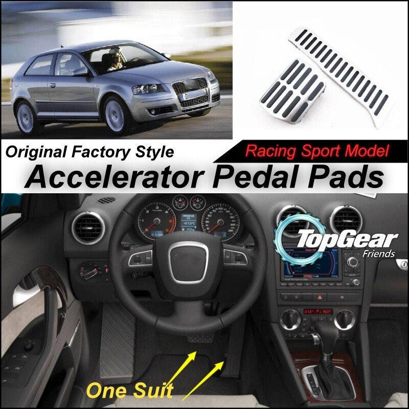 Otomobiller ve Motosikletler'ten Pedallar'de Litanglee Araba Gaz pedal pedi/Kapak Orijinal Fabrika Spor Yarış Model Tasarım Audi Audi Için A3 8 P 2003 ~ 2012 Ayar title=