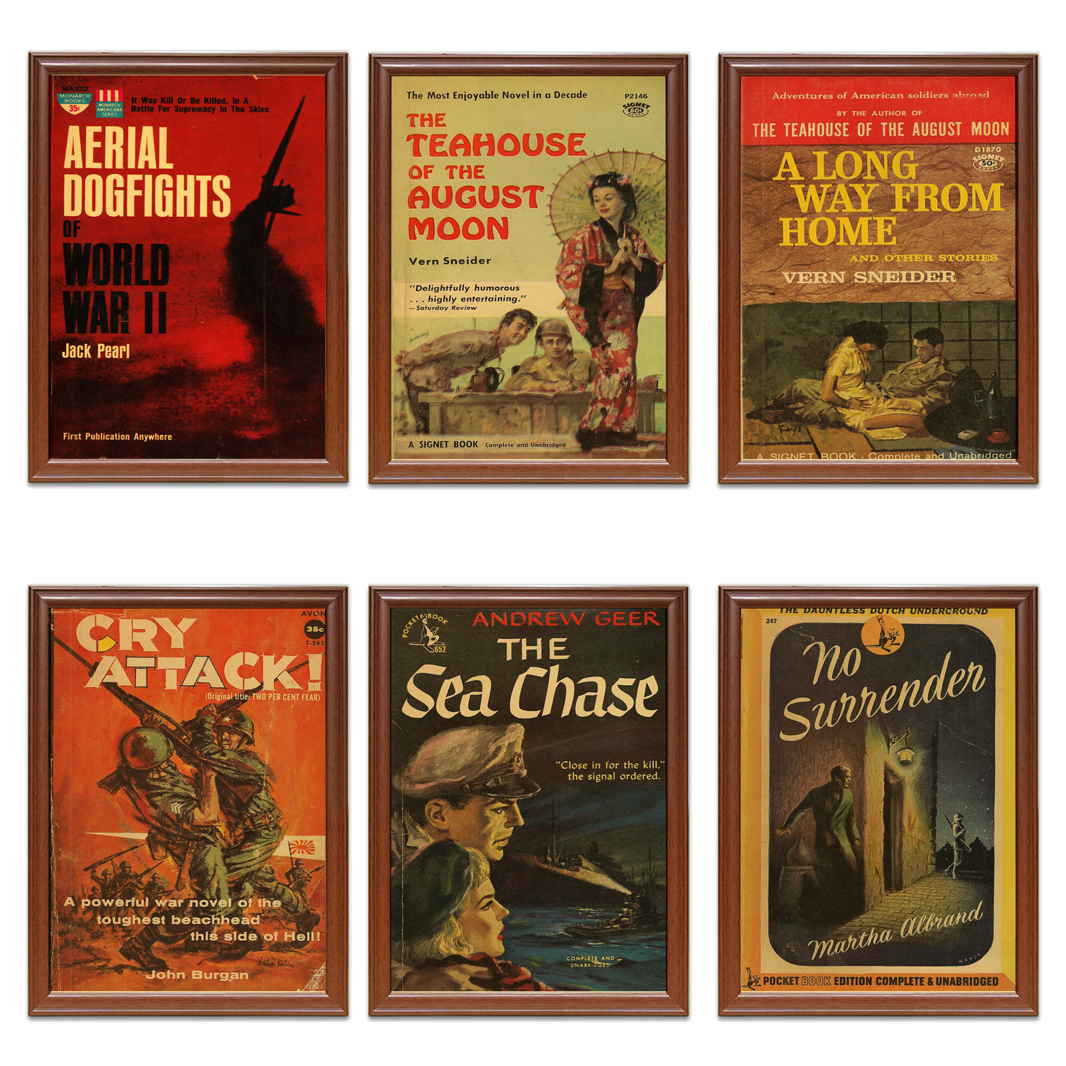 Vintage WW1 WW2 Story Book Covers Poster No Surrenders Kraft Posters Classic Canvas Paintings Wall Stickers Home Decor Gift image