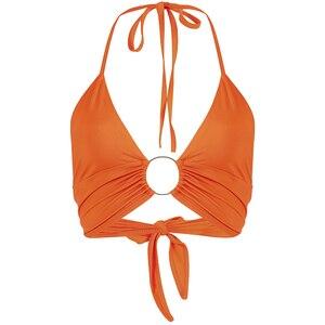 Image 4 - HEYounGIRL הלטר ללא משענת סקסי יבול גופייה נשים אופנה תחבושת קצוץ למעלה אישה שרוולים Croptop Streetwear קיץ Patry
