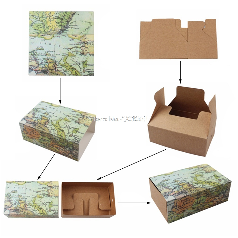 Novelty world map gift box christmas decorations kraft paper candy novelty world map gift box christmas decorations kraft paper candy boxes for guests wedding favors gift packing bag 50pcs in gift bags wrapping supplies gumiabroncs Image collections