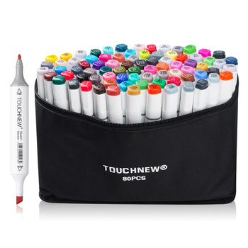Touchnew 80 Color Set Marker Pen Twin Tips Sketch Alcohol Based Art Markers Common Design White Body Carry Bag Buy At The Price Of 38 39 In Aliexpress Com Imall Com