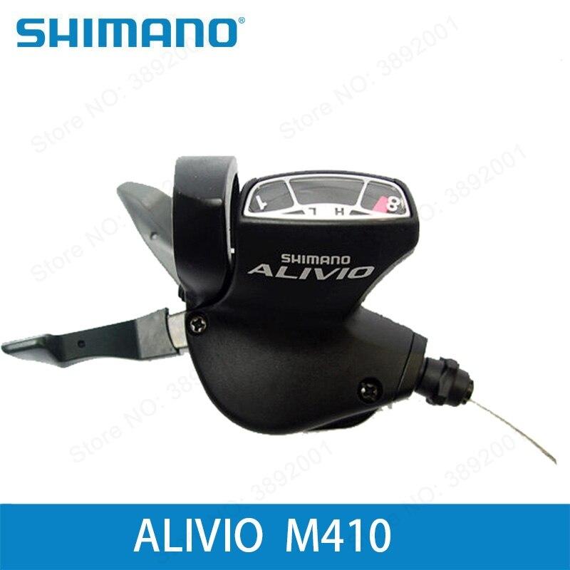 24 Speed Split Front Transmission Black Brand New Original Shimano Alivio Sl-m410 Mountain Bike Finger Dial 8 Speed Cycling