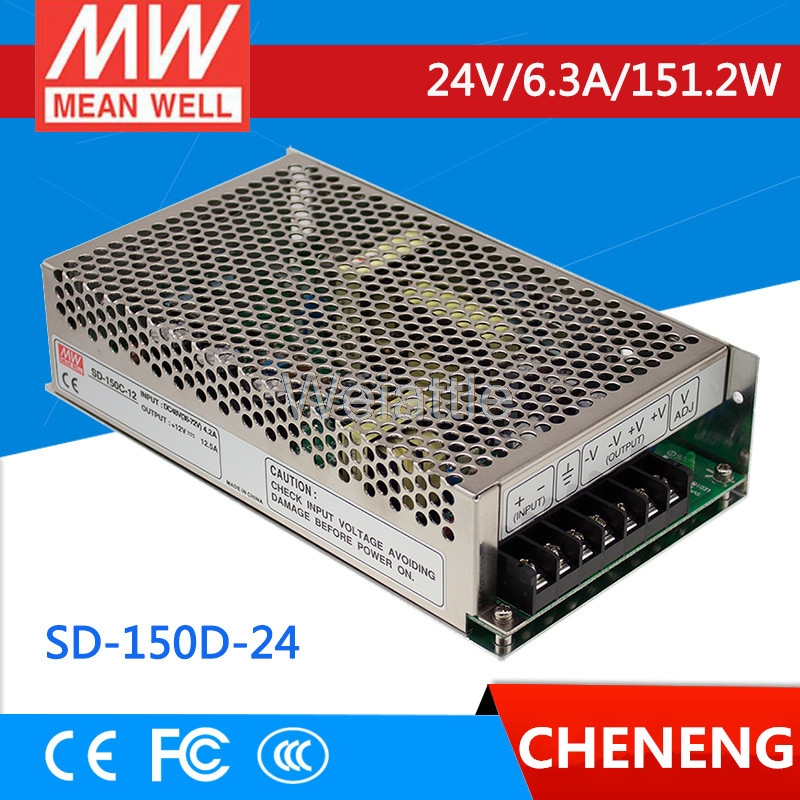 цена на MEAN WELL original SD-150D-24 24V 6.3A meanwell SD-150 24V 151.2W Single Output DC-DC Converter