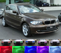For BMW 1 Series E81 2007 2011 Halogen headlight Excellent Angel Eyes Multi Color Ultra bright RGB LED Angel Eyes kit