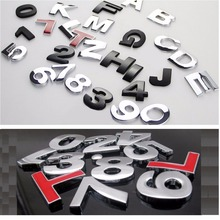 DIY Letters Words Number Free Combination Badges Emblems Sticker Decals Decoration Emblem for Audi Toyota Honda Volkswagen etc