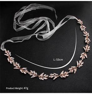 Image 4 - כסף ריינסטון חתונת חגורת אבנט כלה זהב קריסטל סרט חגורת Sashes חגורת יהלומי חתונת קישוט WS J043