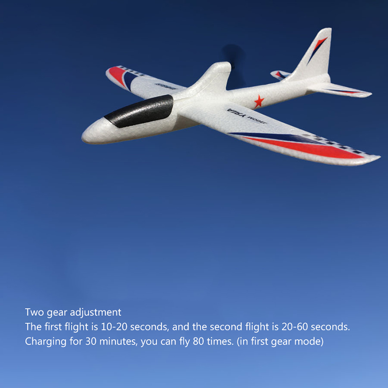 Image 4 - RC Airplanes USB Charging Electric Hand Throwing Glider DIY Airplane Model Hand Launch Throwing Glider toy for children 2-in RC Airplanes from Toys & Hobbies