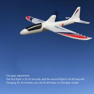 Image 4 - RC samoloty USB ładowania elektryczne ręcznie rzucanie szybowiec DIY Model samolotu ręcznie uruchomienie rzucanie szybowiec zabawki dla dzieci 2