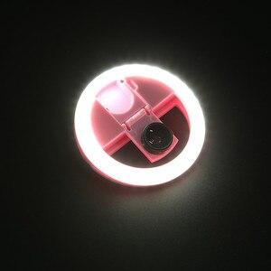 Image 4 - USB LED الجمال ملء ضوء الإضاءة التكميلية ليلة الظلام Selfie تعزيز للهاتف تهمة Selfie مصباح مصمم على شكل حلقة ringlight