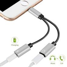 Dual 8 pin ports Headphone Jack Adapter Audio Charge Adaptor charger Cable 2 in 1 Charging For iPhone Xs XR MAX 7 8 Plus iOS11