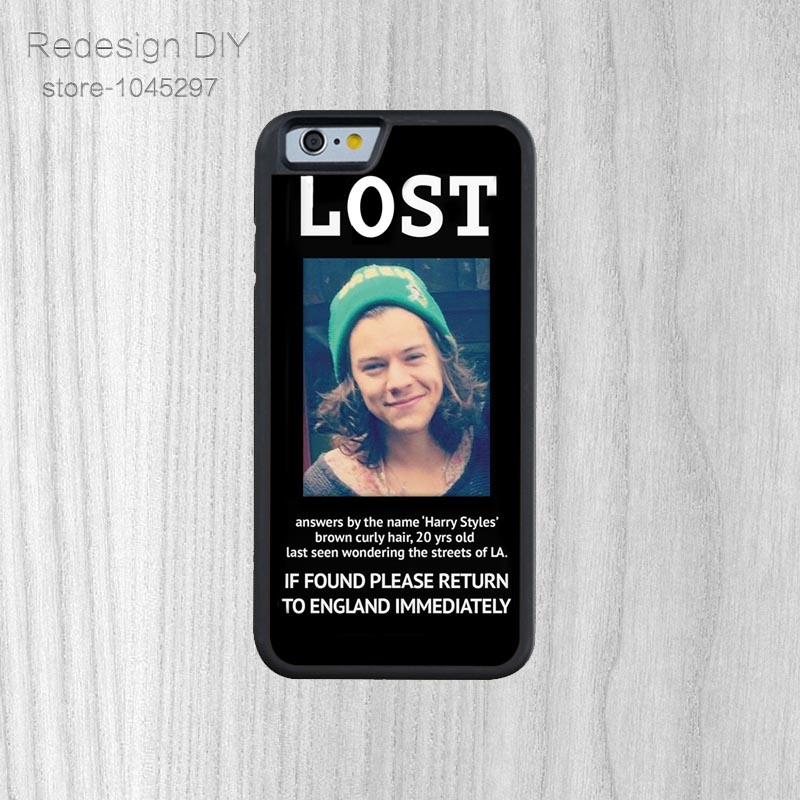 Unique Design Lost Harry Styles Hard Phone Case Hard Phone Case For iPhone 6 6s And 4 4s 5 5s 5c 6 Plus back cover