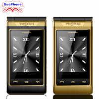 TKEXUN G10 Frauen Flip Telefon Mit Doppel Dual-Screen Dual Sim Kamera MP3 MP4 3,0 Zoll Touch Screen Luxus Senior telefon Handy