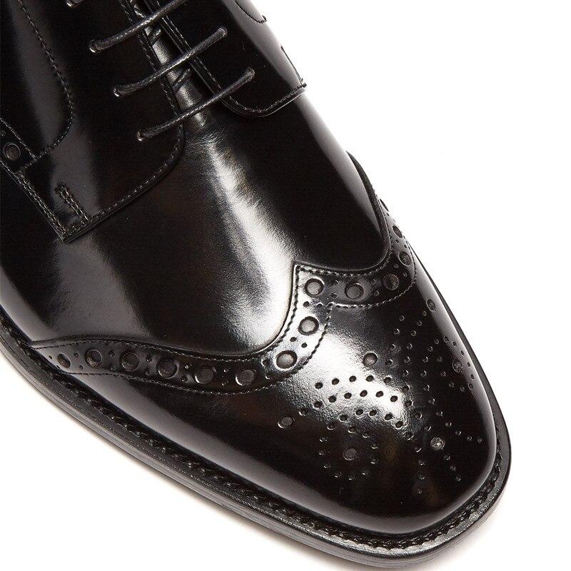 Preto Pequenos Oxfords Dos Negócios Lace À Respirável colorido Homens up Buracos Plana As Patente De multi Vestem Sapatos Mão Couro Casamento Qianruiti Feitos Se Pic Yq0XUx