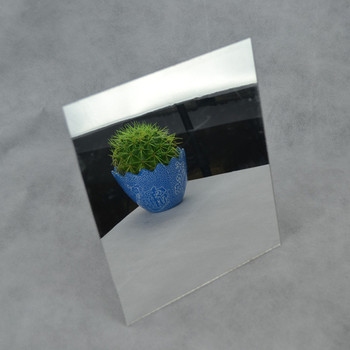 35pcs Acrylic Mirror 400x300x1mm Silver Home Hotel Decorative Rectangle Not Easy To Broken And We Can Proofing