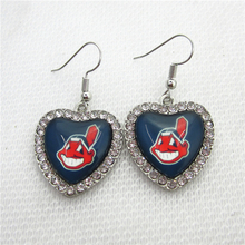 New 5pair/lot Baseball Team Cleveland Indians Earring for Fashion Jewelry Earrings MLB Sports Earrings Jewelry