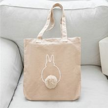 8b38a9e64efb Cartoon Animal Hair Ball Women Handbags Canvas Casual Tote Bags Shoulder  Bags Student Bag(China