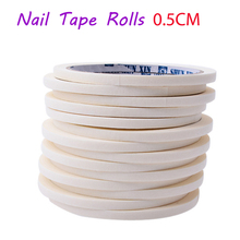 2017 New 5mmX17m French Manicure Nail Art Tips Creative Nail Stickers Masking Tape Nail Accessories Edge Guide Tips DIY Stickers