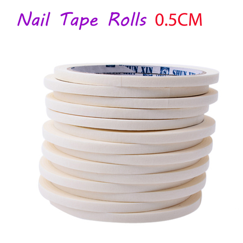 2017 New 5mmX17m French Manicure Nail Art Tips Creative Nail Stickers Masking Tape Nail Accessories Edge Guide Tips DIY Stickers накладные ногти unbranded 100pcs french nail tips