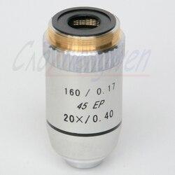 FYSCOPE 1PC 20X Lab195N medyczny mikroskop biologiczny pół planu achromatyczne obiektyw 160/0. 17 średnica gwintu 20.2mm w Mikroskopy od Narzędzia na