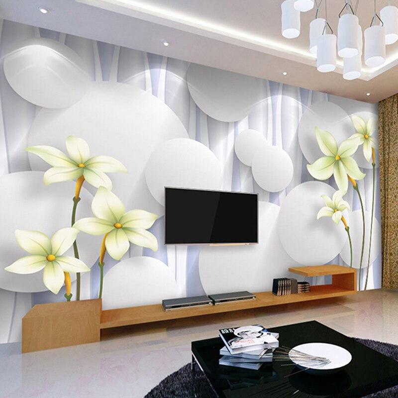 Custom 3D Photo Wallpaper Modern Flower Large Mural Non-woven Wallpaper For Bedroom Living Room TV Background Wall Paper Rolls
