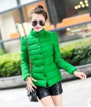 Зимнее пальто новые 2016 женщин короткие хлопок-ватник plue размер L-3XL