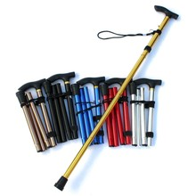 Aluminum Alloy Light Telescopic Adjustable 4 Section Hiking Walking Stick Trekking Pole Alpenstock For Climbing Hiking New