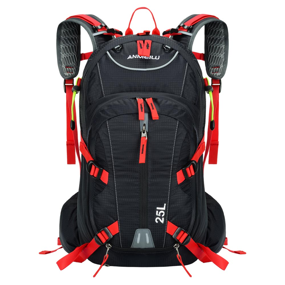 ANMEILU 25L Cycling Backpack Bike Bags Shoulder Backpack Outdoor Sport Riding Mountaineering Hydration Water Bag with Rain Cover strong oxygen gazelle 26l backpack outdoor light breathable mountaineering bag double shoulder sport bag
