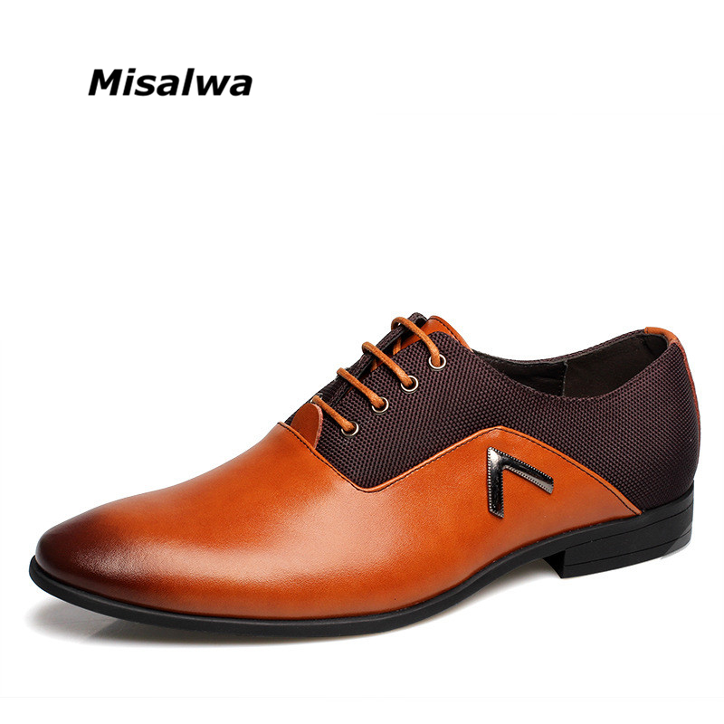 2018 Men Formal Leather Shoes Quality Brand Mens Dress Oxfords Shoes Pointed Toe Male Office Shoes Size 6-12 Drop Shipping