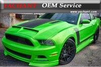 Car Styling High Quality Fiber Glass FRP Hood Fit For 10 14 Mustang Shelby GT500 GT V6 Tru Carbon A53KR Style Ram Air Bonnet