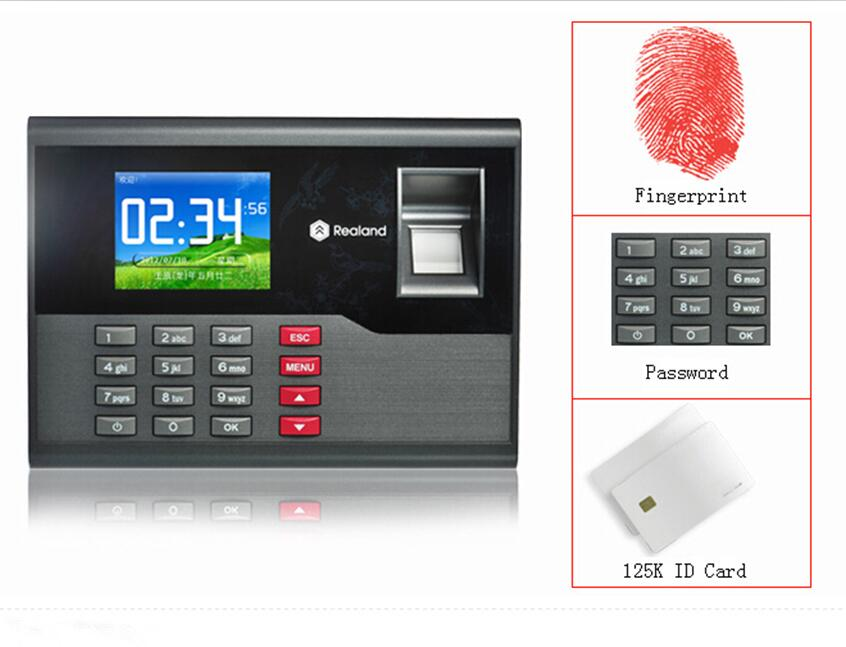 125K RFID Card & Fingerprint Time attendance Fingerprint Time Clock System Support French Language biometric time attendance fingerprint time recoorder time clock for office employee with usb support english language