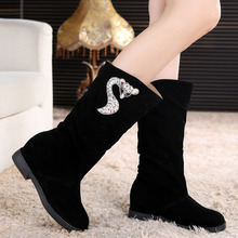Fashion Lady Martin Boots Women Boots New Autumn Winter High Lady Cylinder Flat Increased Knee Women Boots