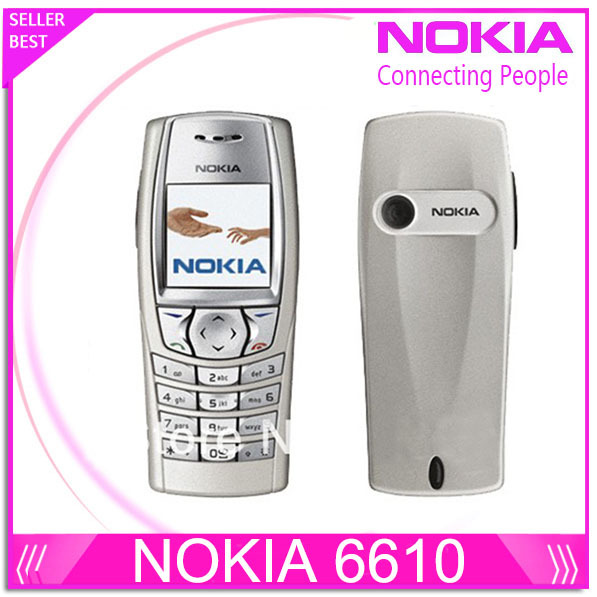 Original Nokia 6610 6610i unlocked phone with Russian and Arabic keyboard and Language Drop shipping