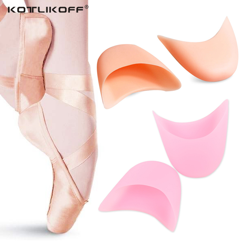 KOTLIKOFF Silicone Gel Insoles Insert Toe Dance Protector Insoles Forefoot Pad Support Ballet Shoes Covers Foot Care Pads