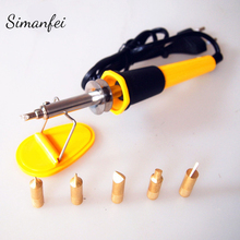 Electric Soldering Irons Adjustable 110V 30W Welding Solder Rework Station Heat Pencil Wire 200 480c smd 936 power electric soldering station irons 110v 220v 75w ac100 250v rework welding iron through hole connections