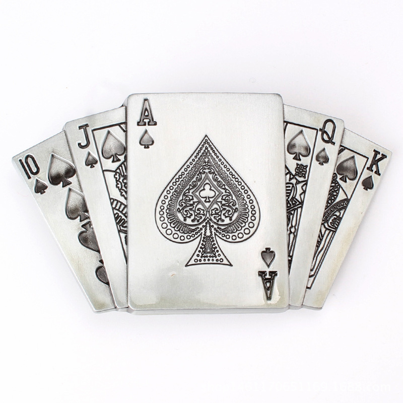 Poker Flush Belt Buckle Personality Fun Belt Buckle