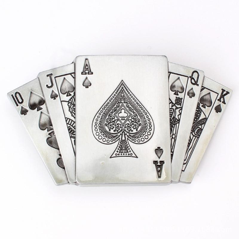 Poker Flush Belt Buckle Personality Fun Belt Buckle