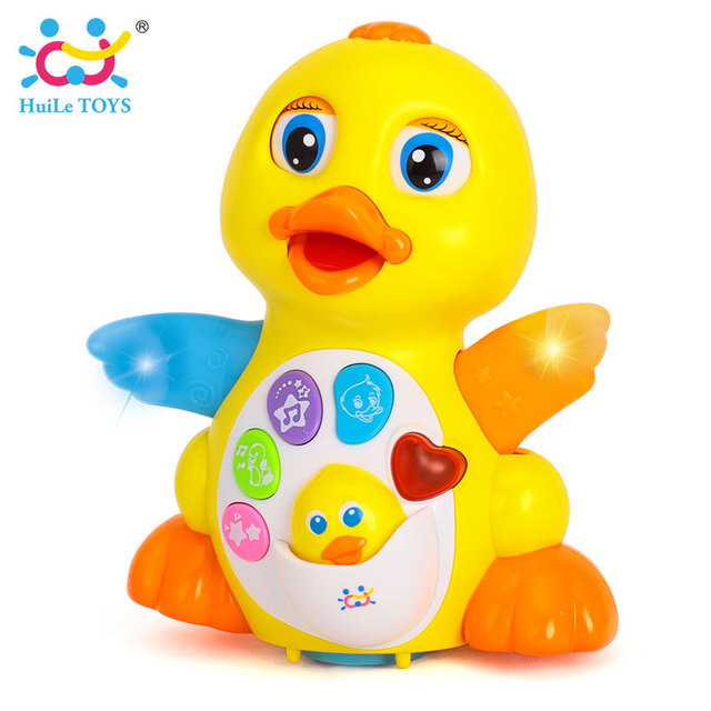 HUILE TOYS 808 Baby Toys EQ Flapping Yellow Duck Infant Brinquedos Bebe Electrical Universal Toy for Children Kids 1-3 years old