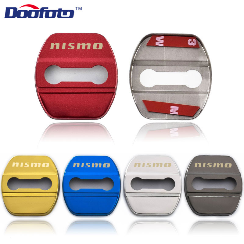 Doofoto Car Styling Protection Stainless Steel Cover For Nissan Nismo Qashqai Tiida Teana Auto Emblems Accessories Colors Shell