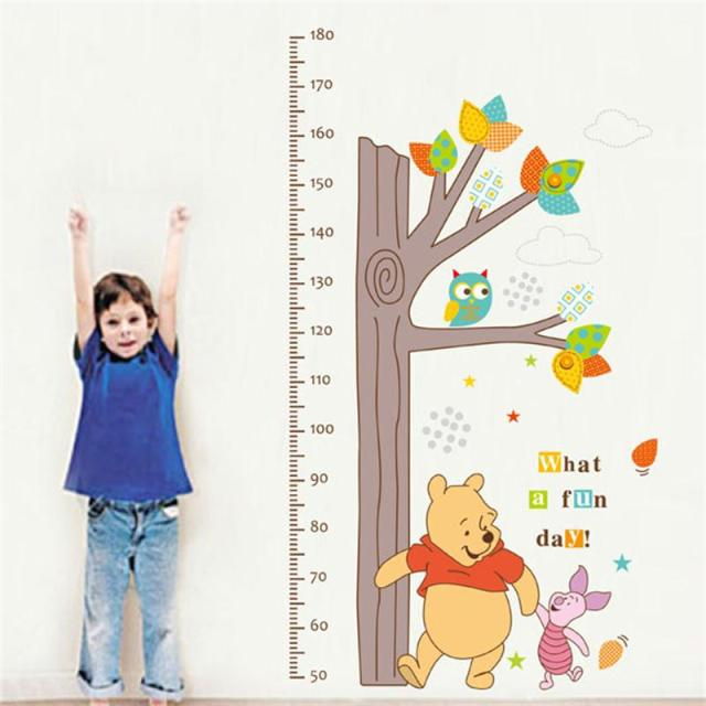 Children Height Measurement Growth Chart Tree Winnie The Pooh Owl