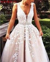 2019 Fashion Prom Dresses Slit Formal Dress Ivory Lace Prom Dress Sweep Train Tulle Slit Evening Gowns all over florals slit hem dress