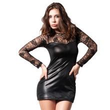 MUXU black sexy transparent lace dress bodycon fashion women clothing patchwork vestidos long sleeve short big size M-6XL