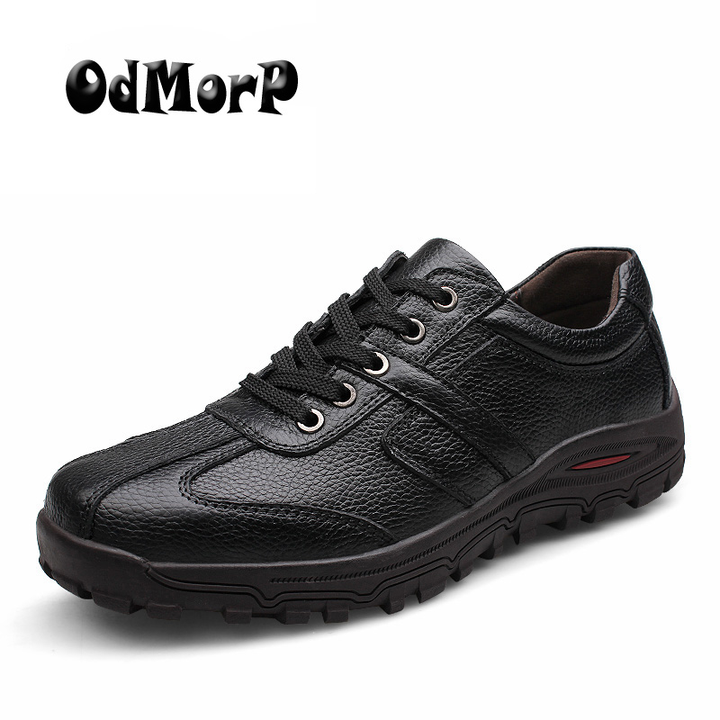 ODMORP Handmade Genuine Leather Men Black Leather Shoes Plus Size 38-48 Oxfords Male Moccasins High Quality Men Shoes цена