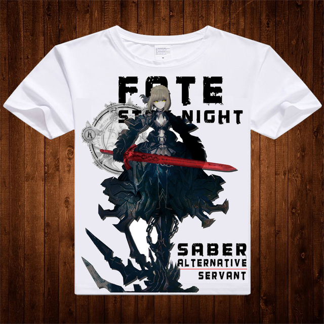 New Anime Fate Zero T shirt Saber Archer T-shirt Fate Zero Fashion Men  Women Comfortable Breathe Freely fate stay night 9dc834825
