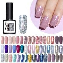 LEMOOC Nail Art 8ml Shining Glitter Starry Platinum Paint Gel Crystal Lacquer Soak off UV LED Polish