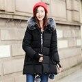 Casacos de inverno senhoras Longo 2016 Uma versão com grosso casaco de inverno quente acolchoado-algodão roupas quem down-algodão casaco jaqueta de algodão acolchoado