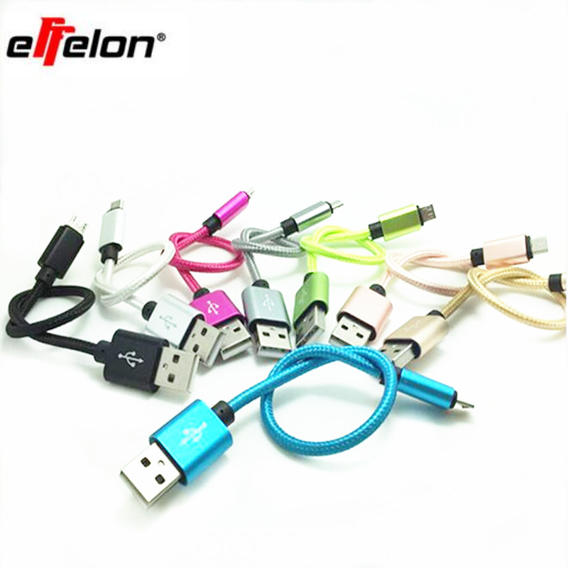 15cm Short Micro USB Cable 2A braided Data Sync Cable For font b Android b font