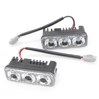 High Power 2Pcs Set 6 Led 9W Universal Car Light Source Waterproof DC12V DRL Daytime Running
